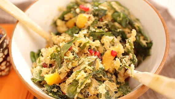 Meyveli, Ispanaklı Kış Salatası