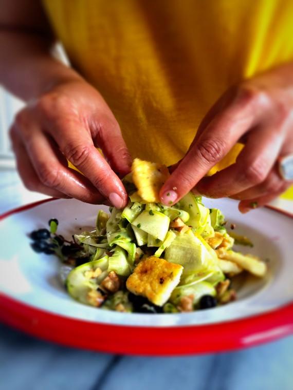 Pesto soslu Kabak Salatası