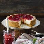 Düdüklüde Kolay Kızılcık Marmelatlı Cheesecake