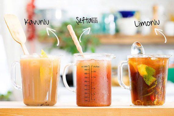 3 Çeşit Soğuk Çay Tarifi
