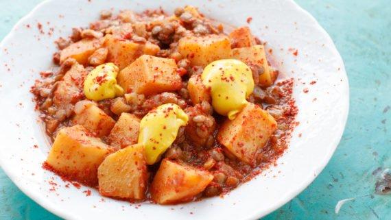 mercimekli patates